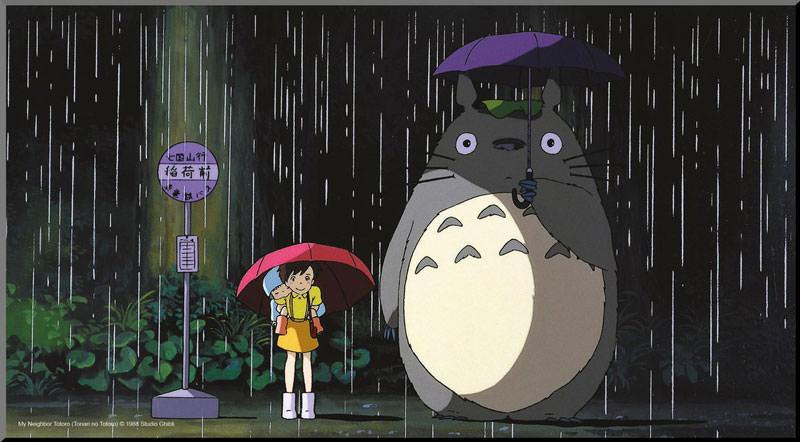 Min granne Totoro tavla (träpannå) - Ordbilders webbshop